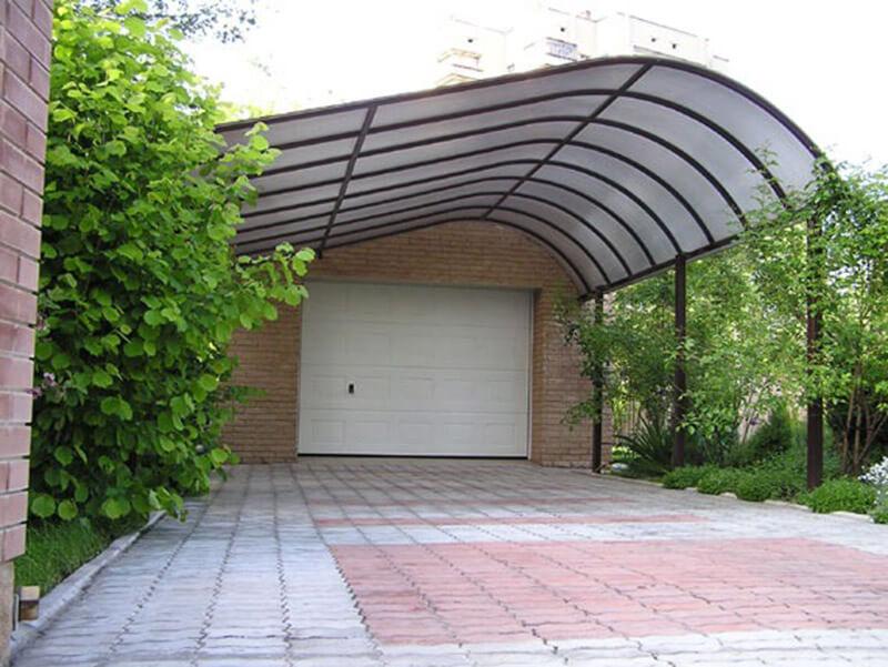 Дачные навесы из поликарбоната