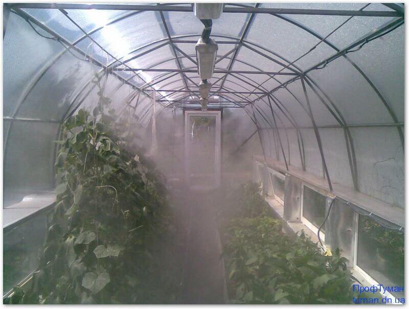 Система полива для теплицы из поликарбоната