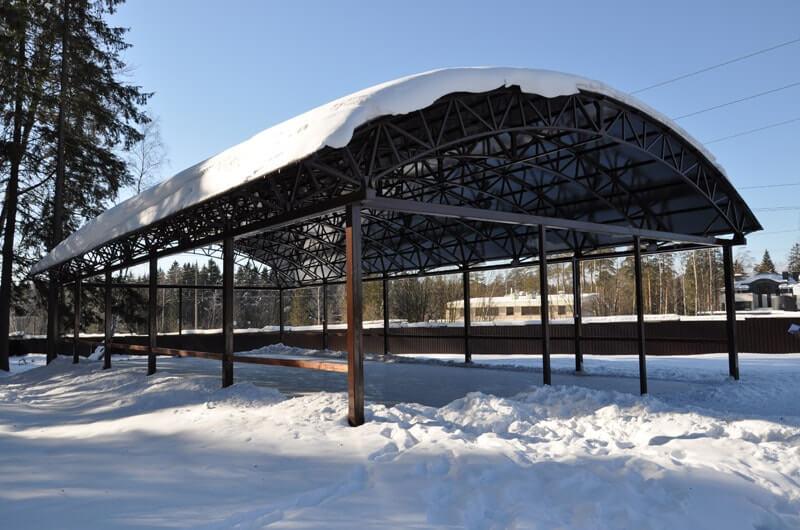 Как сделать навес из сотового поликарбоната неуязвимым к зиме
