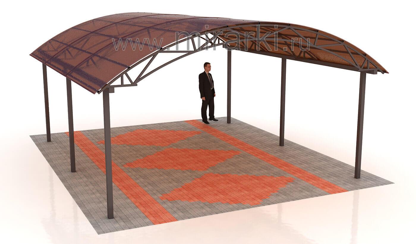 Навес из поликарбоната 4х6